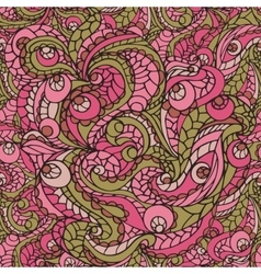 Multicolor cute Abstract swirl seamless pattern vector image