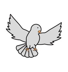 peace dove icon vector image