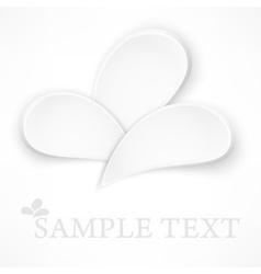 Petal design elements on white vector image vector image