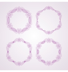 Set of Round Guilloche Rosettes vector image