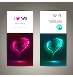 Valentines day banners or flyer backgrounds vector image vector image