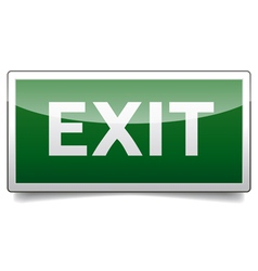Danger exit sign solo vector