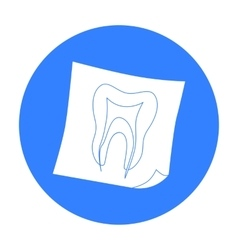 Dental x-ray icon in black style isolated on white vector image