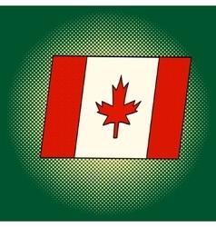 Flag of Canada pop art vector image vector image