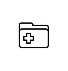 Line folder icon on white background vector