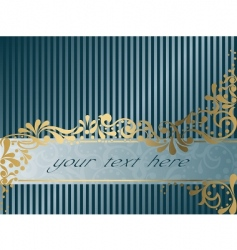 vintage Victorian banner horizontal vector image vector image