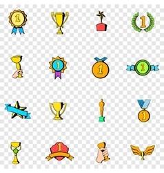 Award set icons vector image vector image