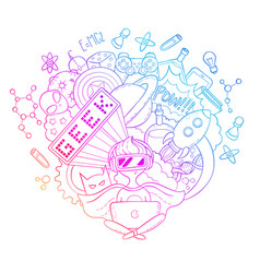 cartoon doodle background vector image