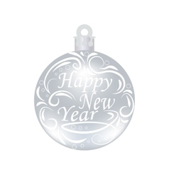 Christmas New Year festive inscription on a vector image