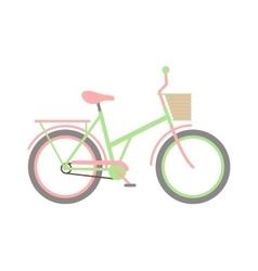 Girl bike vector image vector image