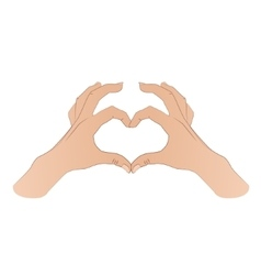 Hands shaping a heart symbol vector image