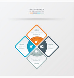 rectangle presentation orange blue gray color vector image