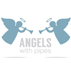 Two angles with pipes vintage style vector