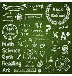 Back to school elements vector image vector image