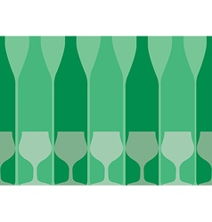 Bottles Background green vector image