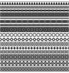 Islamic seamles line border set vector image