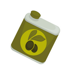 Jar with olive oil vector