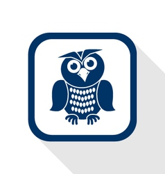 owl flat icon vector image