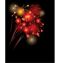 Red firework background vector image