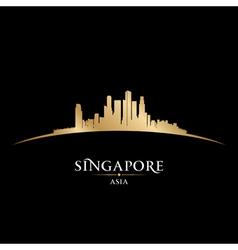 Singapore Asia city skyline silhouette vector image vector image