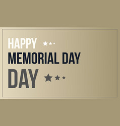 Style banner memorial day event vector