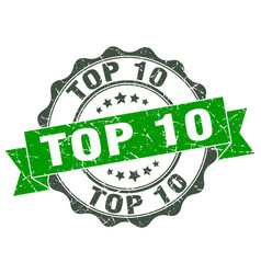 top 10 stamp sign seal vector image vector image