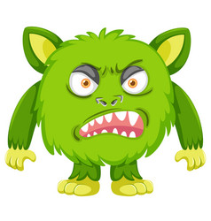 A green angry monster vector