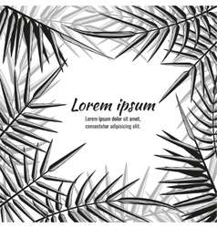 Abstract exotic background with tropical vector image