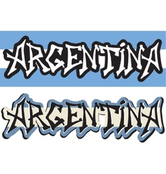 Argentina word graffiti different style vector