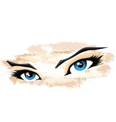 Artistic eyes vector