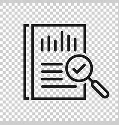 Audit document icon in transparent style result vector
