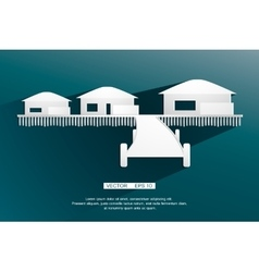 background sign bungalow flat design vector image