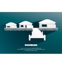 Background sign bungalow flat design vector