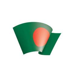 Bangladesh flag on a white vector