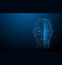 biometric technology digital face scanning vector image