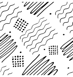 Black and white hand drawn endless background vector