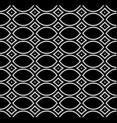 black white repeat ornamental ethnic texture vector image