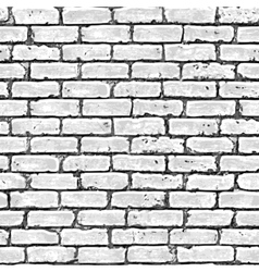 Brick wall seamless pattern vector image