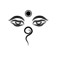 Buddha eye bindu namaste vector