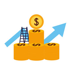 business money success vector image