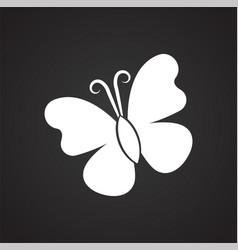 Butterfly on black backgorund vector