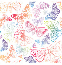 Butterfly seamless pattern summer holiday vector