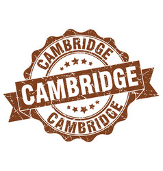 Cambridge round ribbon seal vector