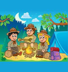 Children scouts theme image 4 vector
