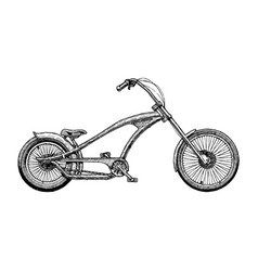 Chopper bicycle vector
