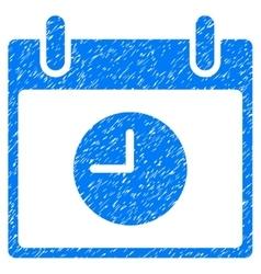 Clock Calendar Day Grainy Texture Icon vector image