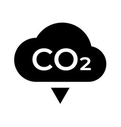 Co2 carbon emissions concept icon badge vector