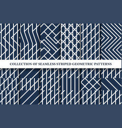 collection of geometric striped seamless vector image