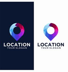 colorful pin location symbol logo vector image