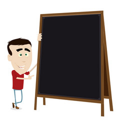 cool cartoon young teacher vector image